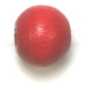Wooden Bead Round 8mm Red